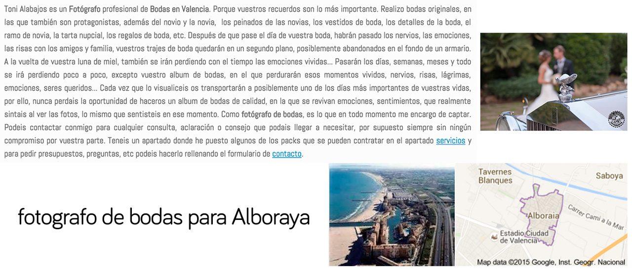Fotógrafo Alboraya