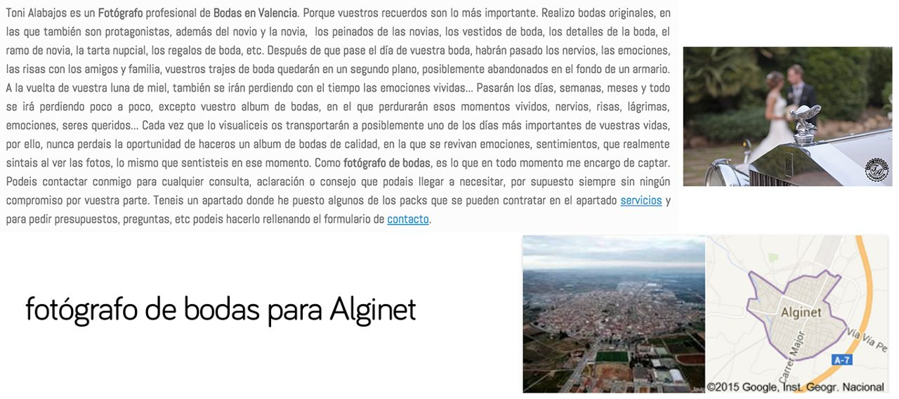 Fotógrafo Alginet