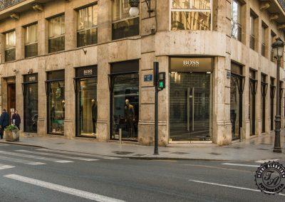 Fotografía de comercio en Valencia tienda Hugo Boss 1