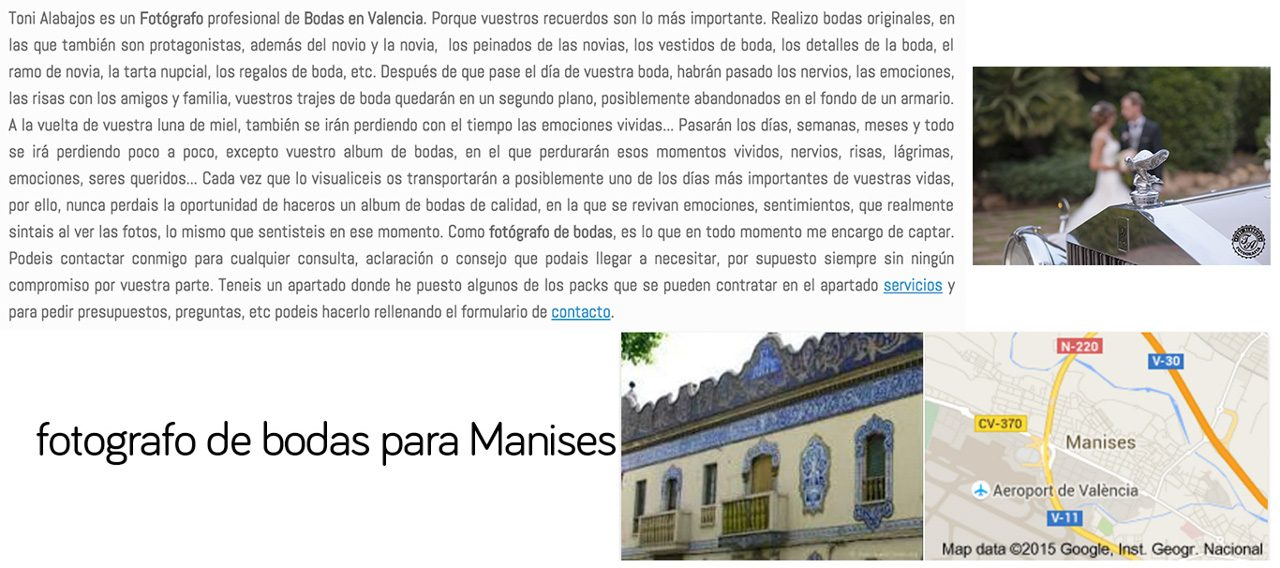 Fotógrafo Manises