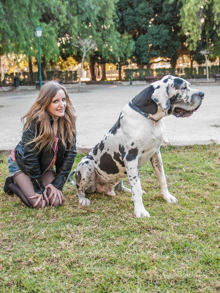 fotografo valencia modelo lau viveros valencia perro